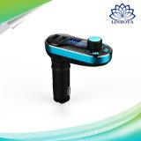 Émetteur du lecteur MP3 Kit/FM de véhicule de Bluetooth/chargeur de véhicule avec l'USB duel