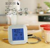 タイマーが付いている台所のためのタッチ画面のデジタル正方形のプローブのステンレス製の温度計