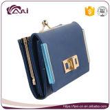 Mulheres de couro da carteira da forma, bolsa de couro da embreagem do plutônio de 2 cores