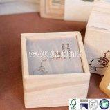 De madera de lujo como el rectángulo de regalo de papel del embalaje
