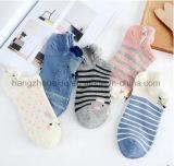 Karikatur und Streifenpatten-Kleid für Kide Knöchel-Socke