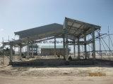 Taller de acero de la construcción del edificio verde económico