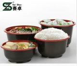 Wegwerfheiße Suppe-Plastikfilterglocke der roten schwarzen Einspritzung-500ml