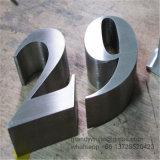 ブラシをかけられたステンレス鋼のロビーの印の文字