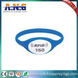 浜のための13.56 MHz NFCのシリコーンRFIDのリスト・ストラップ