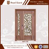 LuxuxEdelstahl-Farben-Beschichtung-Gitter-Fenster-Entwurfs-Innentür-China-Hersteller