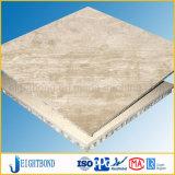 Панель сота Cream белого травертина морская каменная для украшения здания
