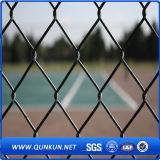 Heißer eingetauchter galvanisierter Kettenlink-Zaun