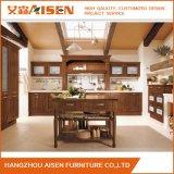 Gabinete de cozinha modular da madeira contínua do Cabinetry feito sob encomenda