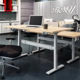 전기 고도 조정가능한 호두 L 모양 책상 테이블