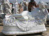 Sculpture en marbre sculpture en marbre pour décoration de jardin (SY-X1183)