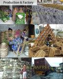 Cestino d'attaccatura della paglia Handmade naturale