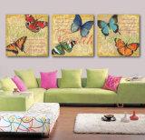 3개 피스 최신 인기 상품 화포 홈 훈장 Mc 208에 그려지는 현대 벽화 나비 색칠 룸 장식 벽 예술 그림