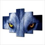 [هد] طبع ذئب أعين مجموعة [بينتينغ كنفس] [برينت رووم] زخرفة طبعة ملصقة صورة نوع خيش [مك-016]
