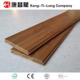 Suelo de bambú carbonizado preacabado de la madera dura