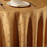 Pano da mesa redonda do poliéster do restaurante/tampa de tabela de linho