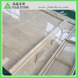 Marfilのクリーム色の大理石のクリーム色の大理石の平板