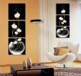 La pittura di parete moderna di vendita calda delle 3 parti fiorisce la maschera di arte della parete della decorazione della stanza della pittura verniciata sulla decorazione Mc-216 della casa della tela di canapa