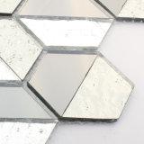 Strati grigi del mosaico di vetro macchiato delle mattonelle di pavimento della decorazione di Backsplash della parete