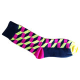 Хлопок Women Plain Socks с Fashion Designs (fp-1)