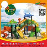 海洋の主題の子供のプラスチックスライドの屋外の運動場装置