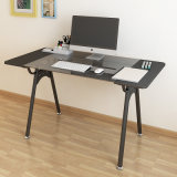 Mesa do computador do vidro Tempered com frame do metal para o uso Home do portátil