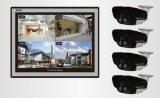 Sistema de seguridad completo con cuatro cámaras de vigilancia de la visión nocturna de in/Outdoor, monitor de Wiarehouse de la cámara del IP IP66 (Q5 4.0) de Q5-4CH H. 264 DVR