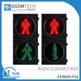 головка света сигнала СИД движения пешеходов 300mm с красным зеленым снабжением жилищем PC плеера