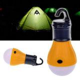 La tente s'arrêtante campante de lampe allument 3 lanternes campantes d'ampoule de DEL