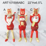 Presente da contagem regressiva dos alces do boneco de neve de Santa do Natal, decoração do Asst-Natal 3