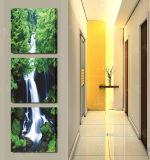 Изображение искусствоа стены декора комнаты картины водопада картины стены горячего надувательства 3 частей самомоднейшее покрашенное на украшении Mc-225 дома холстины