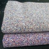 Il fabbricato del cuoio di scintillio del PVC calza il materiale della carta di parete della borsa