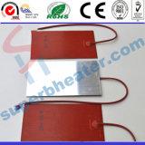 Placa de aquecimento de borracha de silicone com placa de alumínio
