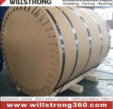 Enduire la bobine d'une première couche de peinture en aluminium pour la décoration de construction