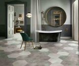 Ecken-sechseckige keramische Fußboden-Fliese des Baumaterial-sechs