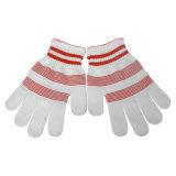 Coton blanchi tricoté/gants en nylon de main de sécurité de travail (HY012)