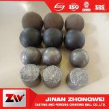 Silberner Bergbau geworfene reibende Kugel