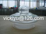 Contenitore di vetro del grande alimento, grandi vasi di vetro con il coperchio di vetro