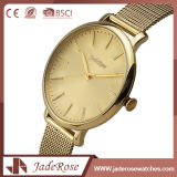 方法女性大きい円形のダイヤルの水晶手の腕時計