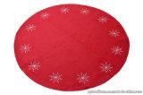 Coperta/stuoia decorative non tessute dell'albero di Natale del poliestere con il ricamo