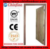 Porte coupe-feu en bois de placage (CF-F022)
