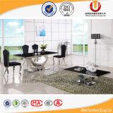現代優雅な緩和されたガラス表の食堂の家具(UL-DC-558)