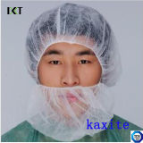 医学または食品工業Kxt-Nbc01のための二重ゴムが付いている使い捨て可能なNonwovenひげマスク