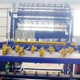 牧草地の塀の金網の溶接機