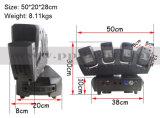 Le faisceau principal mobile 4X12W DEL DJ s'allument