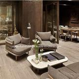 (SD6005-3) Moderne Hotel-Wohnzimmer-Möbel-hölzernes Freizeit-Gewebe-Sofa eingestellt mit Tisch