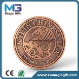 Pièce de monnaie en bronze antique d'enjeu de ventes chaudes