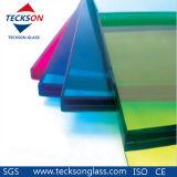 6.76mm 어두운 /French 녹색 PVB는 Ce&ISO9001를 가진 단단하게 한 유리를 박판으로 만들었다
