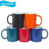 색깔 변화 사진을%s 가진 인쇄할 수 있는 차가운 커피잔