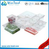 최신 판매 증명서 BPA는 대중음식점 부엌 투명한 플라스틱 1/9 크기 물방울 쟁반을 해방한다